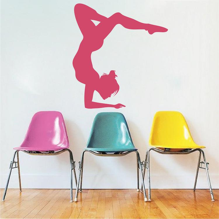 gymnastics girl wall sticker trendy wall designs wall stickers gymnast ball sport wall decals canada