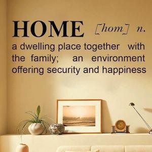 Home definition for Define household design