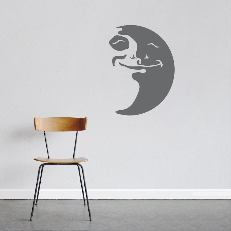 happy moon wall decal trendy wall designs chandelier wall art sticker trendy wall designs
