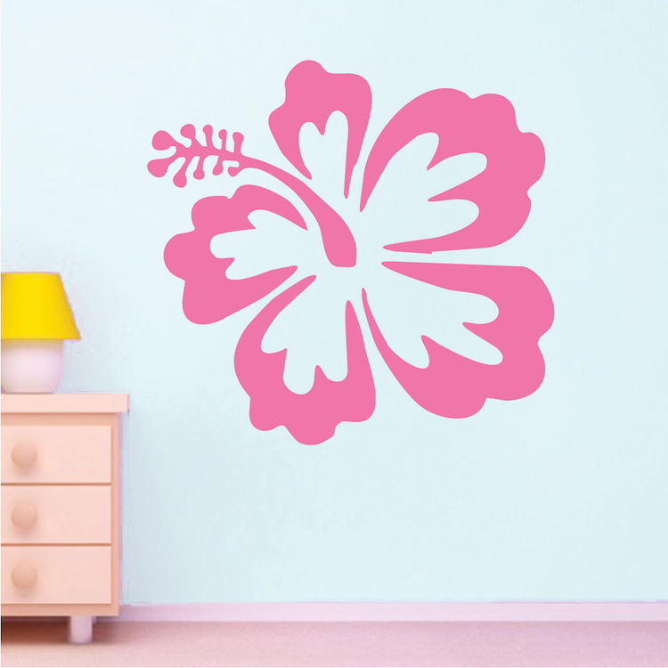 big hibiscus wall sticker trendy wall designs hip shades wall sticker wall decals for teens from