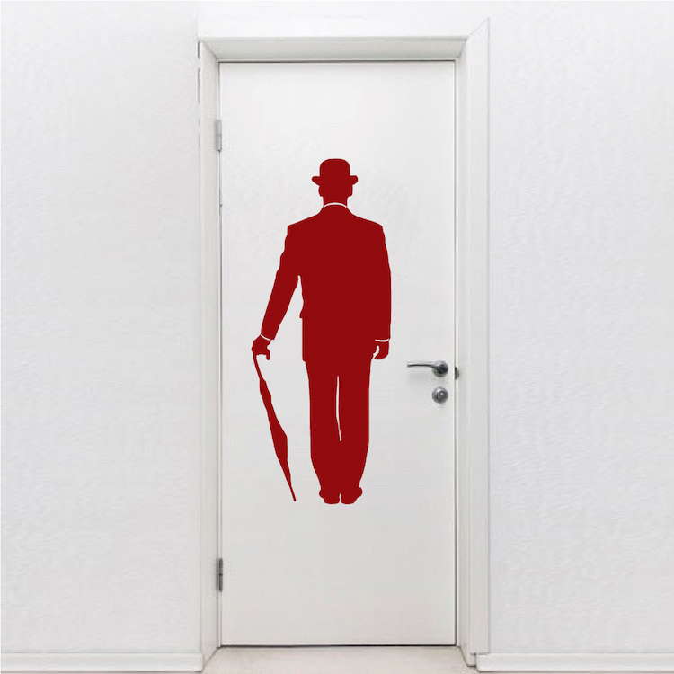 fire red walls charlie chaplin wall decal vinyl wall decals removable