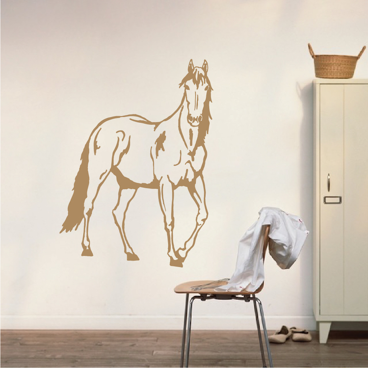 Standing Horse Wall Decal. Zoom