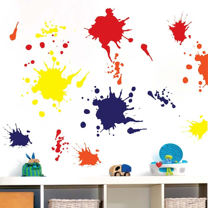 Splash Colorful Room Wall: Ink Splash Wall Decals