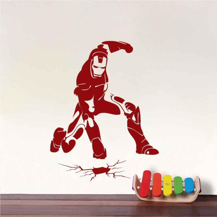 Star Wars Boy Bedroom Kids Bedroom Boy Bedroom Decor Black And Silver Luxury Black And White Bedroom: Iron Man Smash Wall Decal Decor _ Ironman Wall Decal