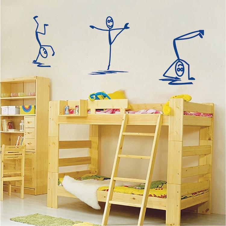 Modern Stick Figure Men Decals - Wall Stickers - Trendy Wall Designs