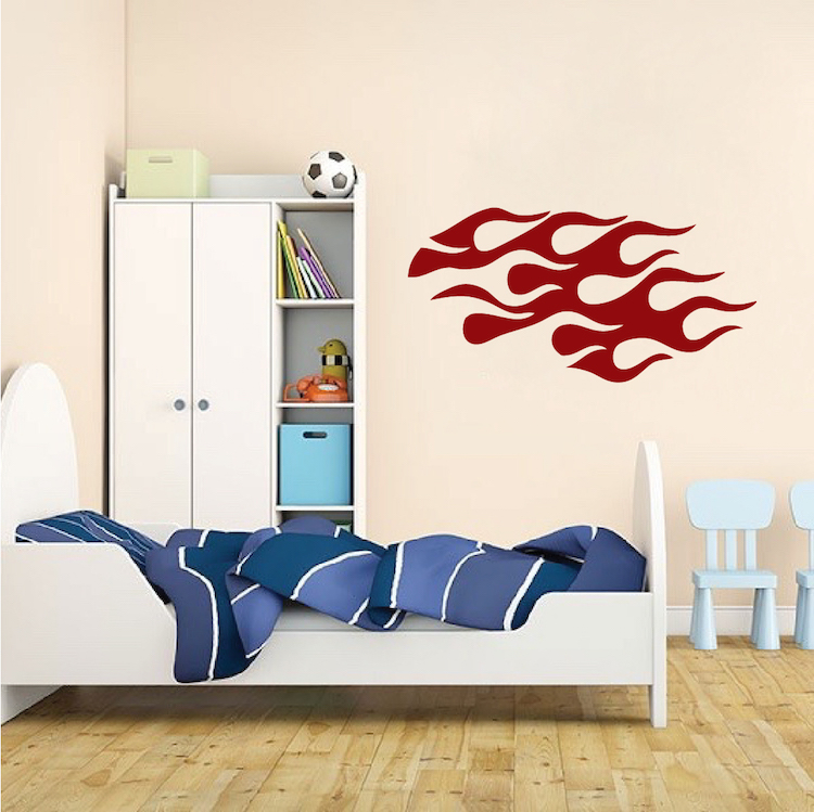 Bedroom Flame Wall Decal Sticker. Zoom