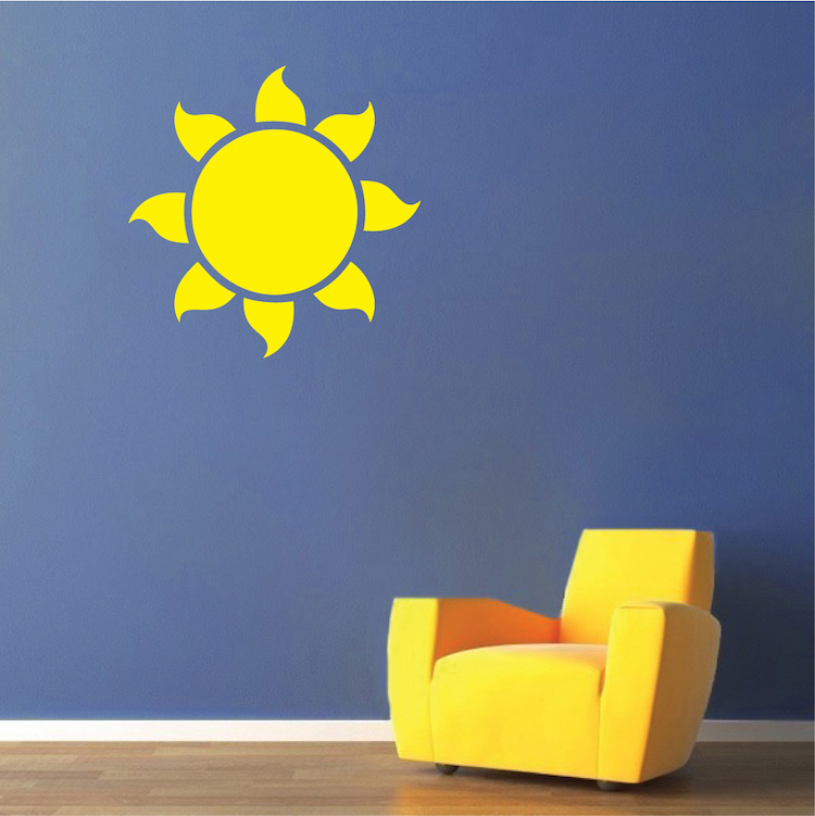 Sun Vinyl Wall Decal Sticker Kids Bedroom Wall Mural Self - Vinyl wall decal adhesive