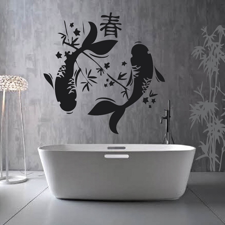 Japanese koi fish wall decal from trendy wall designs for Koi fish wall stickers