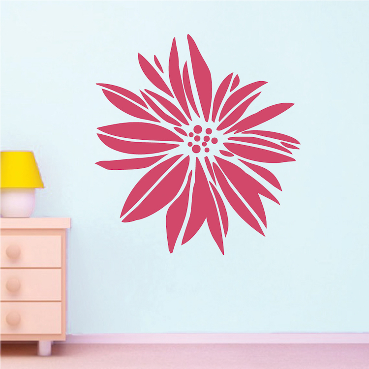 Exotic Flower Wall Decal. Zoom