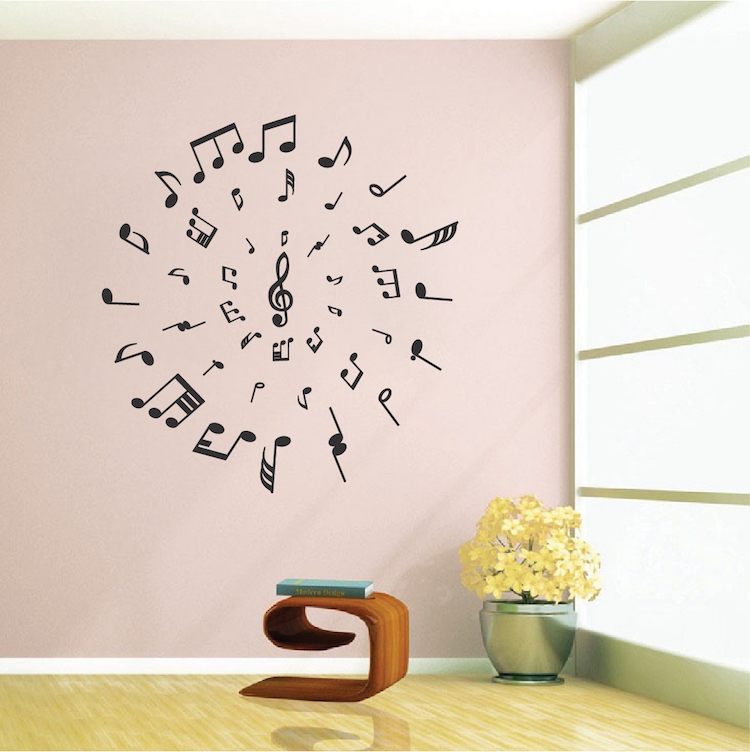 Music Circle Wall Decal. Zoom