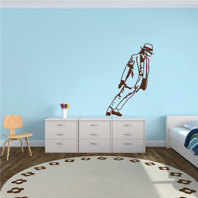 Michael Jackson Leaning Wall Art Decal & Michael Jackson Leaning Wall Art Decal _ Pop Singers Sticker Wall ...