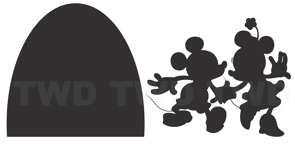 Mouse Hole Wall Decal  sc 1 st  Trendy Wall Designs & Mickey and Minnie Mouse Wall Decal Kids Bedroom Wall Decor Stickers ...