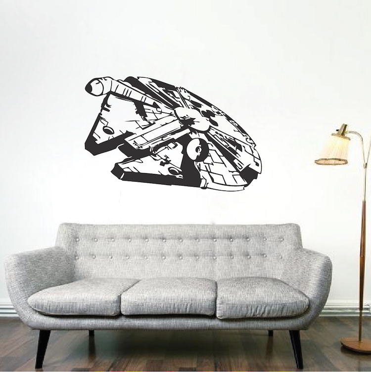 Millennium Falcon Wall Decal. Zoom Part 64