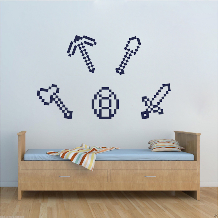 Minecraft Tools Wall Decals Minecraft Tools Wall Designs