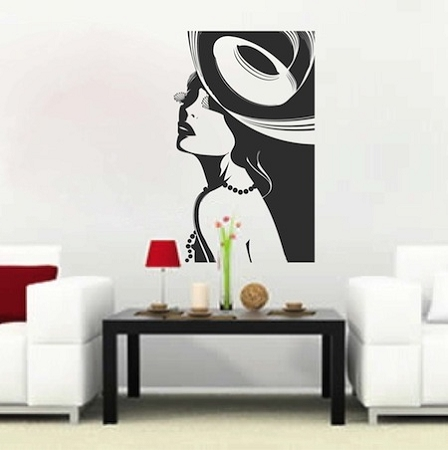Posh Lady Wall Decal & Celebrity Wall Decals From Trendy Wall Designs