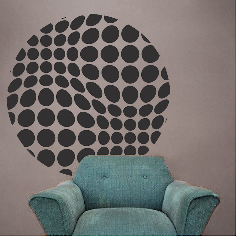 Halftone Sphere Wall Decal Modern Murals Trendy Wall