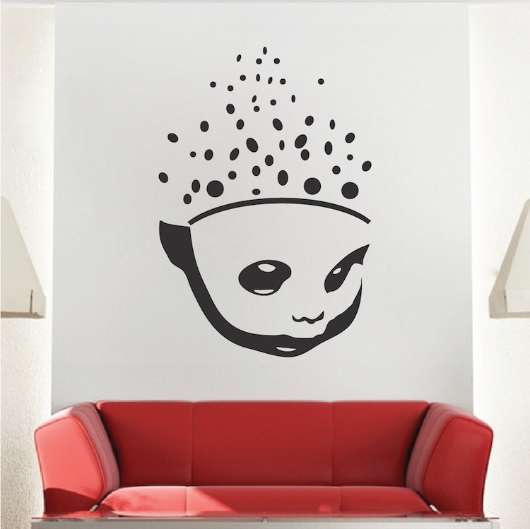 Scattered Brain Wall Decal | Vinyl Wall Decals | Trendy Wall Designs