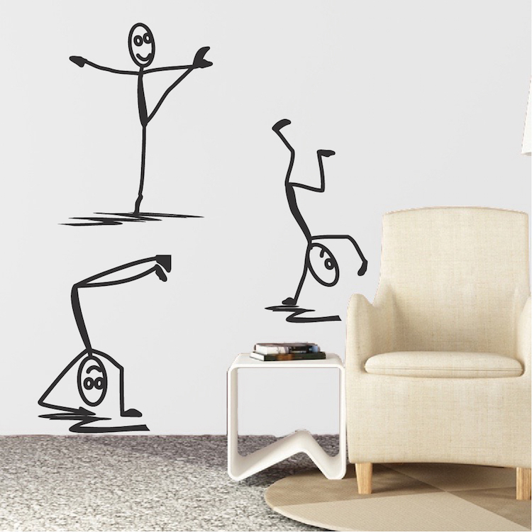 Modern Stick Figure Men Decals - Wall Stickers - Trendy Wall Designs