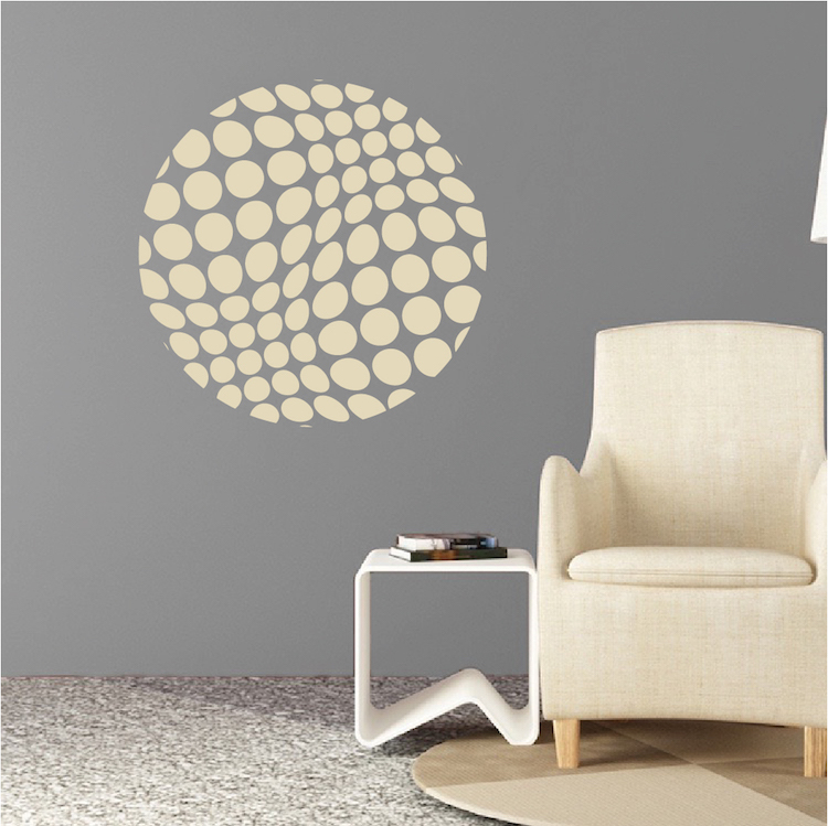 Halftone Sphere Wall Decal Modern Murals Trendy Wall