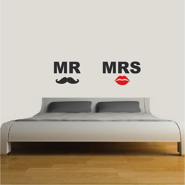 wall decals mr and mrs color the walls of your house