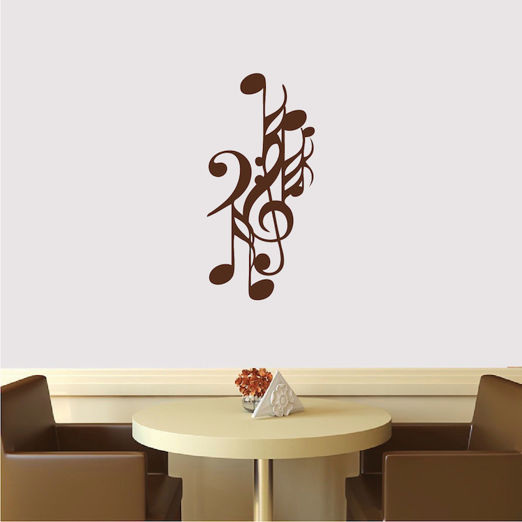 Elegant Music Note Wall Decal. Zoom