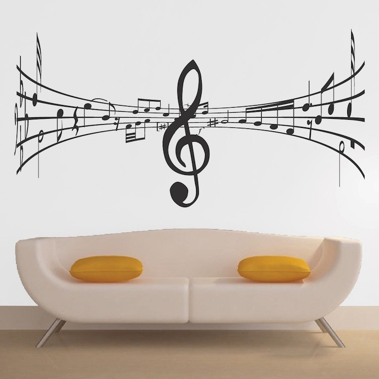 Music Symbol Wall Decal - Trendy Wall Designs