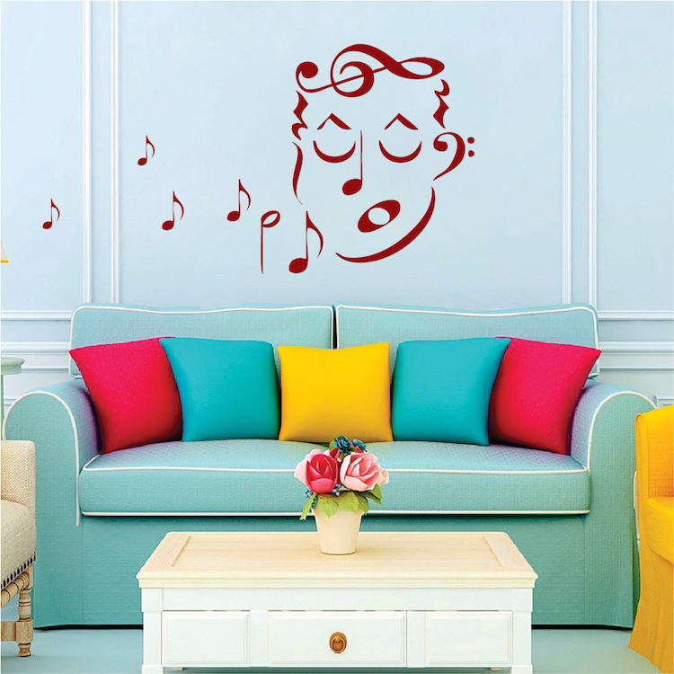 Music Singer Wall Art Decal. Zoom