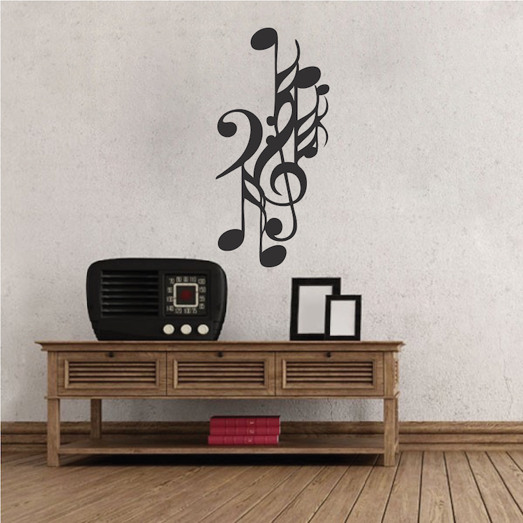 Music Note Wall Decal. Zoom