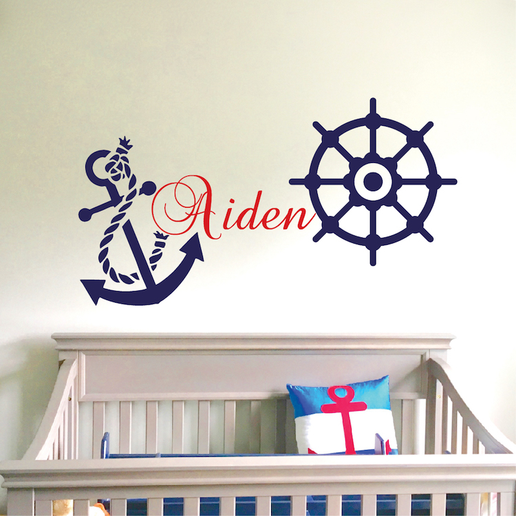 nautical wall decal _ boys room wall sticker _ nursery wall decals