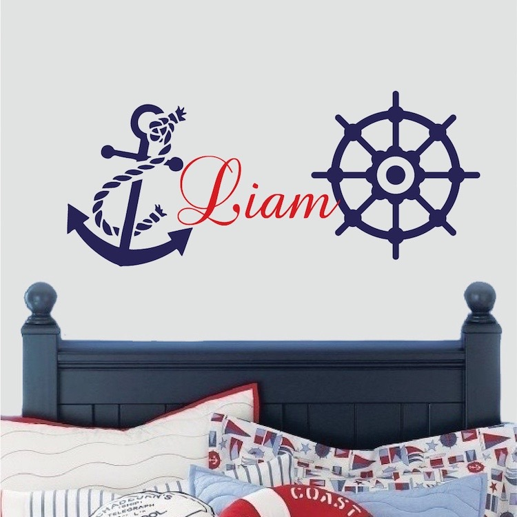 nautical wall decal boys room wall sticker nursery wall decals