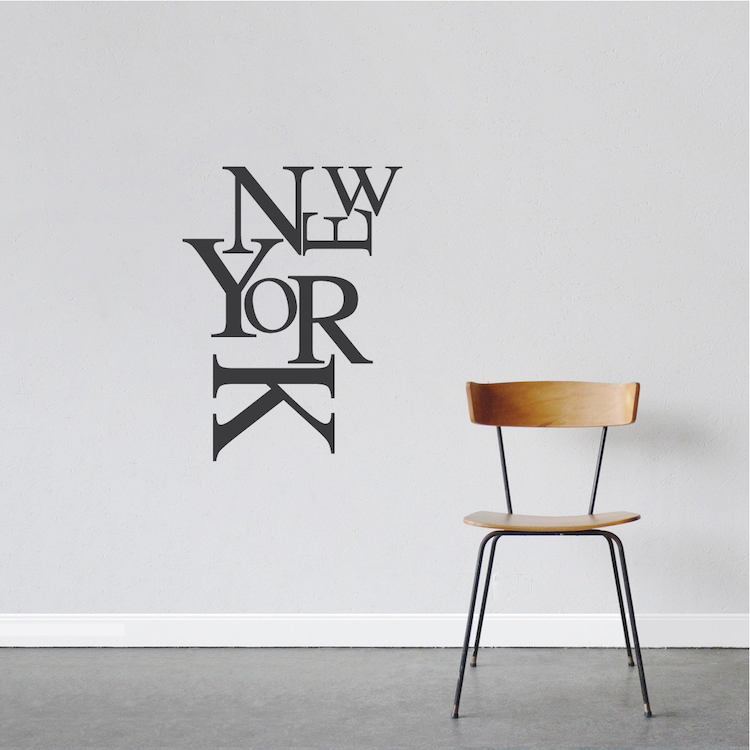Modern New York Wall Lettering Decal State Wall Decor States Of