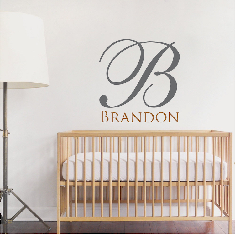 Big Initial Name Wall Decal. Zoom Part 50