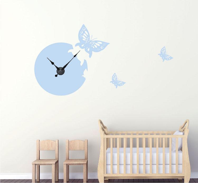 Butterfly Clock Trendy Wall Designs