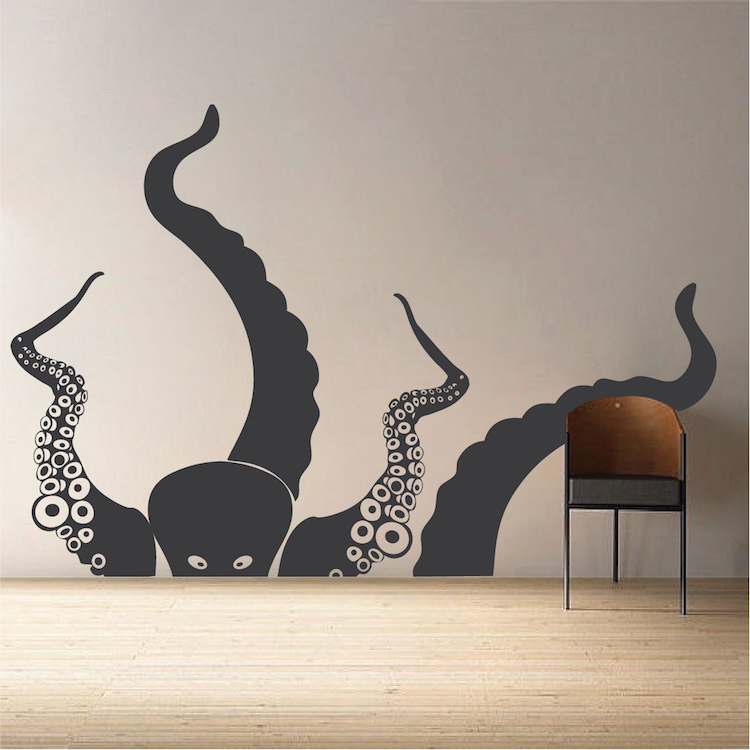 large octopus vinyl wall decal mural trendy wall designs statue of liberty wall mural decal large wall decal