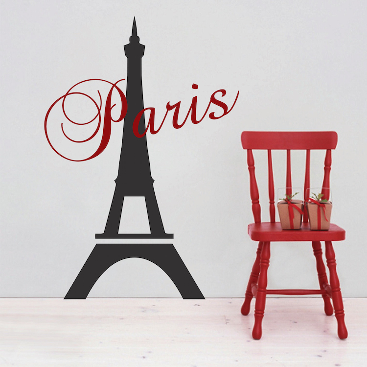 Paris Eiffel Tower Decal Paris Bedroom Stickers From