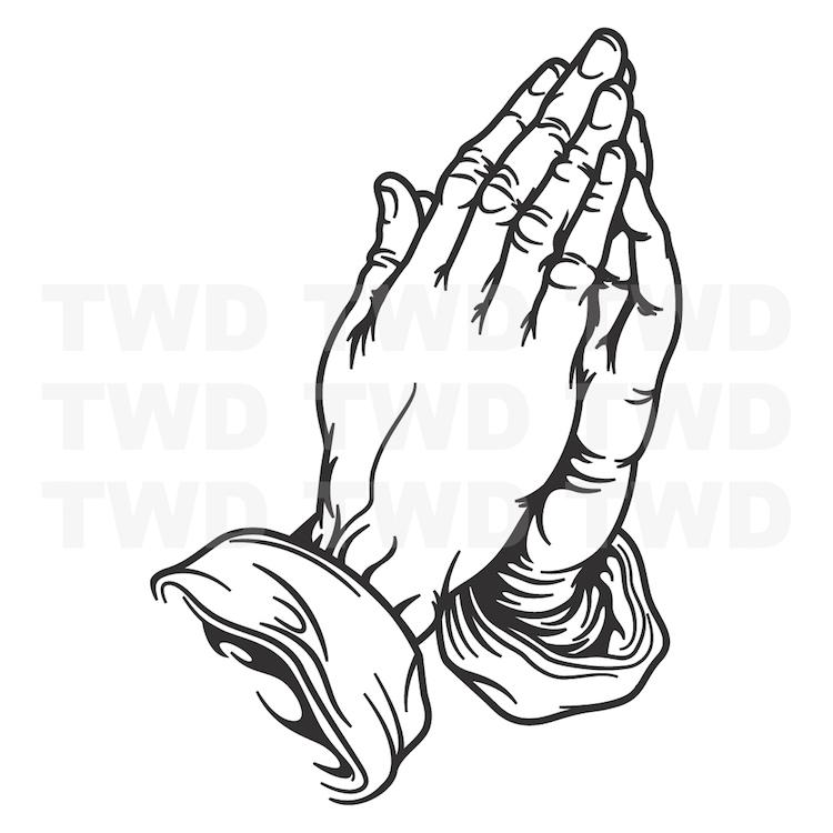 praying hands decal sticker pray hand decor interior vinyl wall