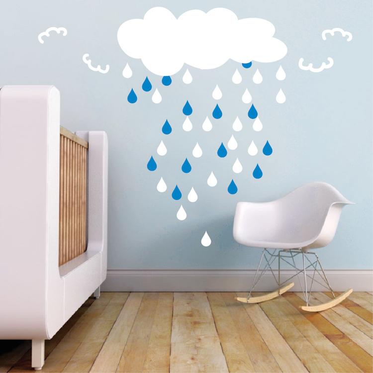 Trendy Design Wall Decals : Rain drops bedroom decals nursery stickers trendy wall