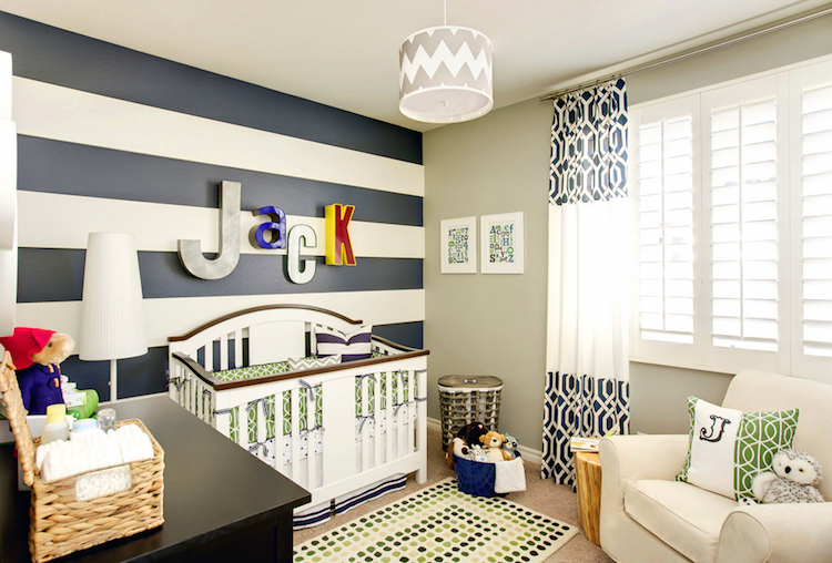 Custom Wall Stripes Sample (Five - Trendy Wall Designs