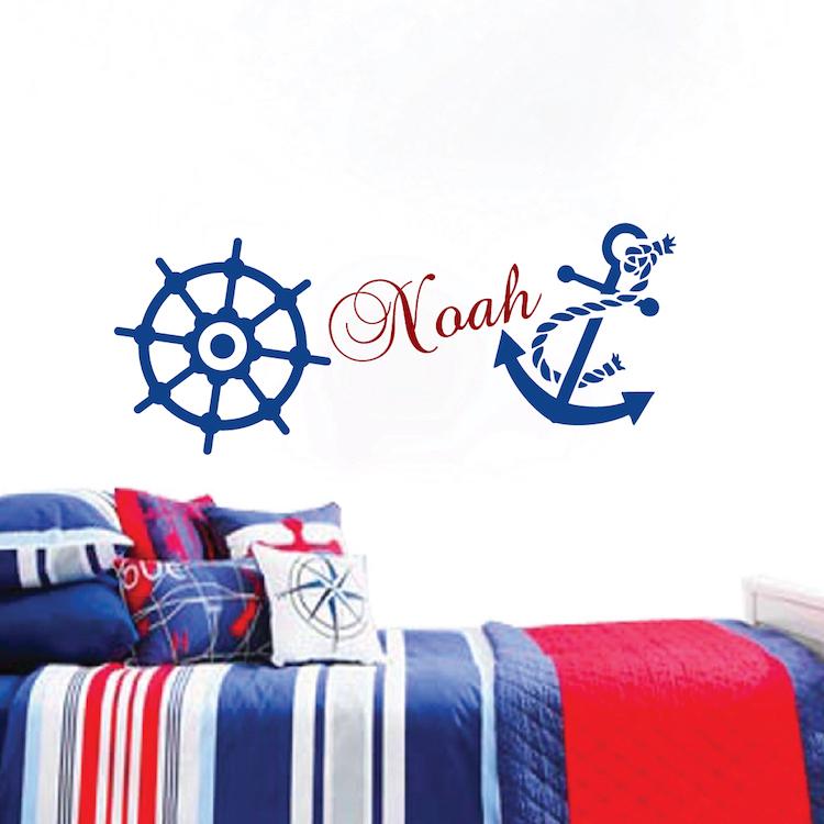 nautical wall decal boys room wall sticker nursery baby nursery cute baby boy wall decals for nursery baby