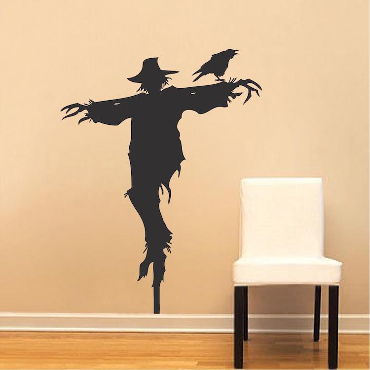 Scarecrow Decal Mural Design - Halloween Scarecrow Decals - Crow ...