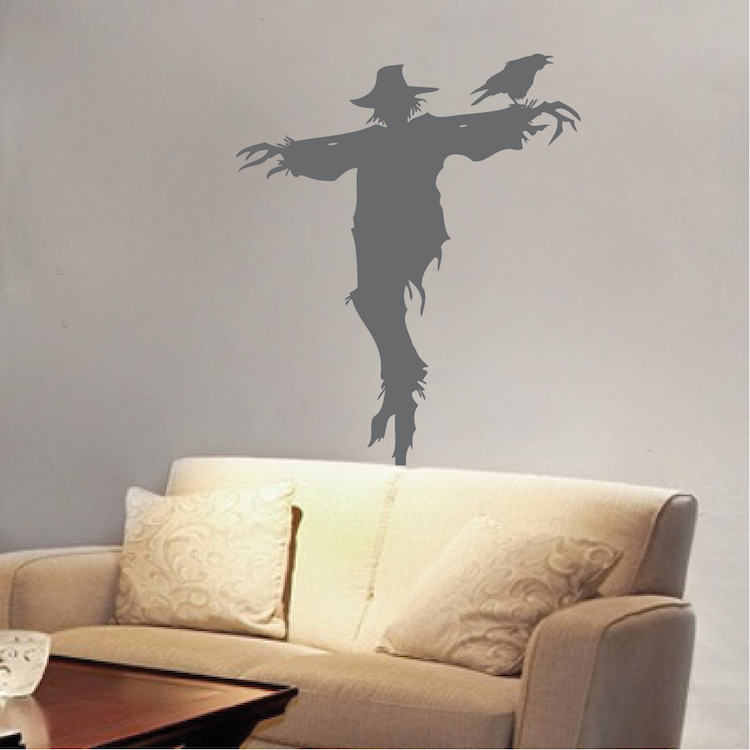 Scarecrow Decal Mural Design  Halloween Scarecrow Decals  Crow