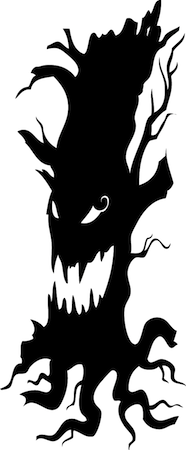 scary tree halloween wall decal trendy wall designs