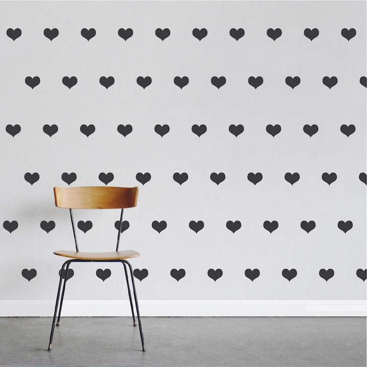 hearts wall decal stickers nursery hearts trendy wall wallstickers folies heart wall stickers