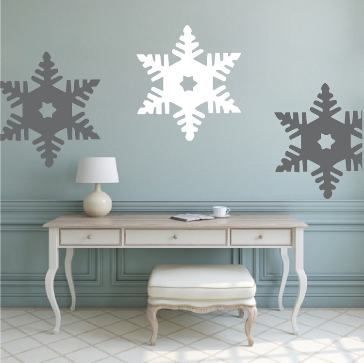 Snowflake Wall Decal. Zoom