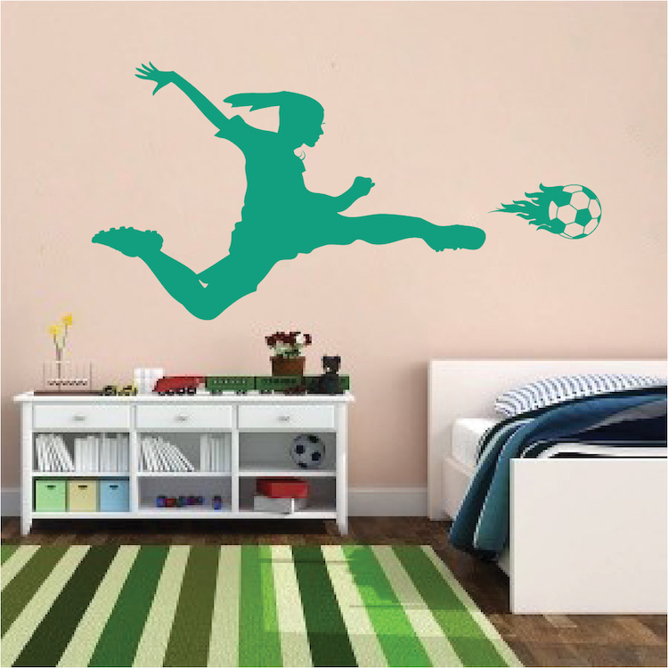 Perfect Soccer Wall Decals - Home Design #923