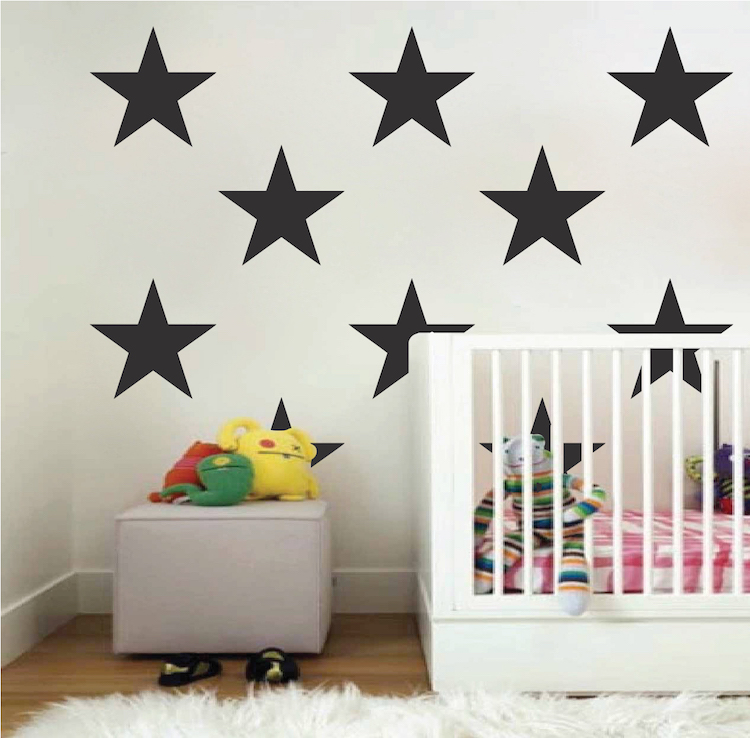 Large Bedroom Star Stickers. Zoom