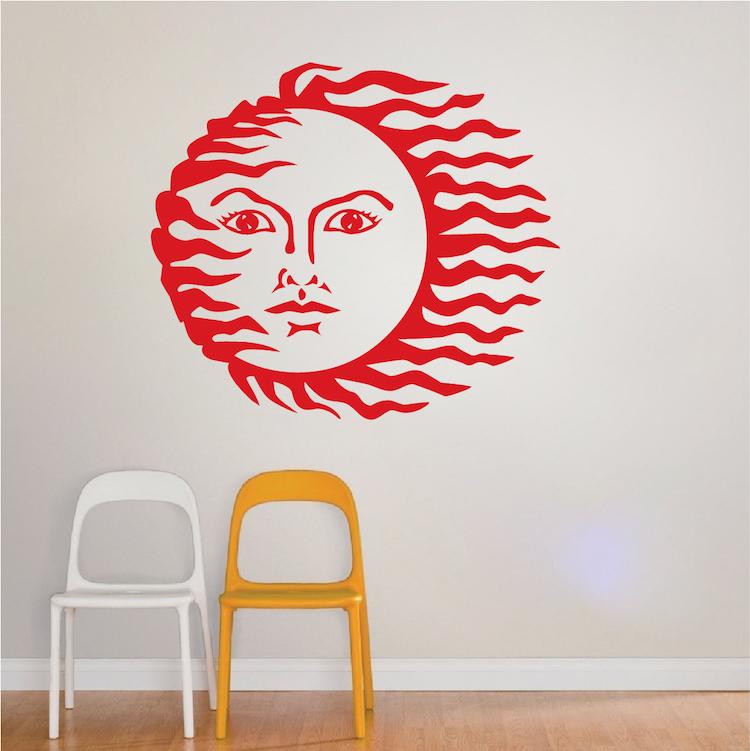 fun sun wall decal trendy wall designs peaceful heart wall sticker trendy wall designs