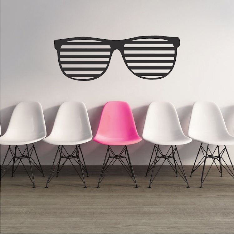 hip shades wall sticker wall decals for teens from saigon wall decal trendy wall designs