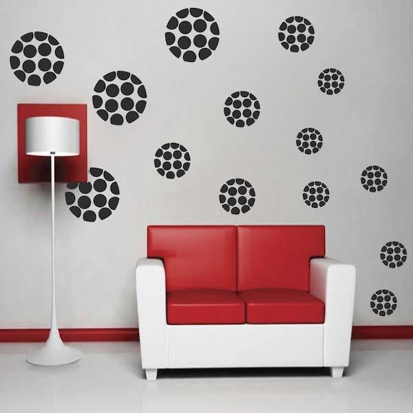 Modern Polka Dot Dots Wall Designs   Trendy Wall Designs