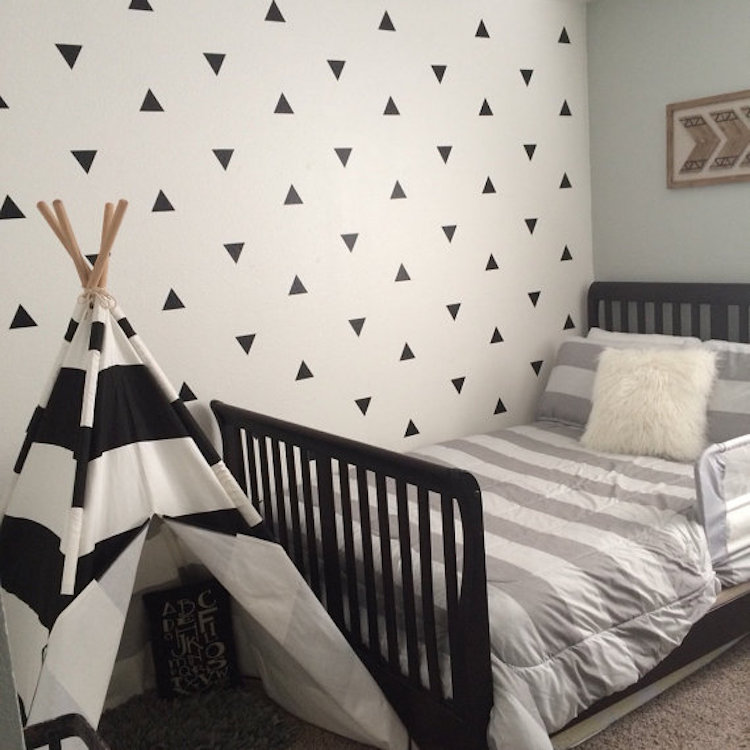 triangles wall decal accent stickers trendy wall designs sanrio hello kitty world large wall accent sticker set